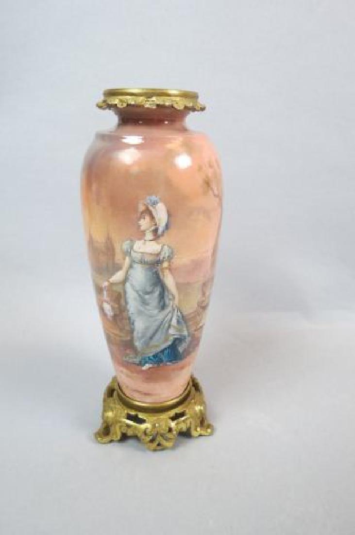 French Enamel Vase,