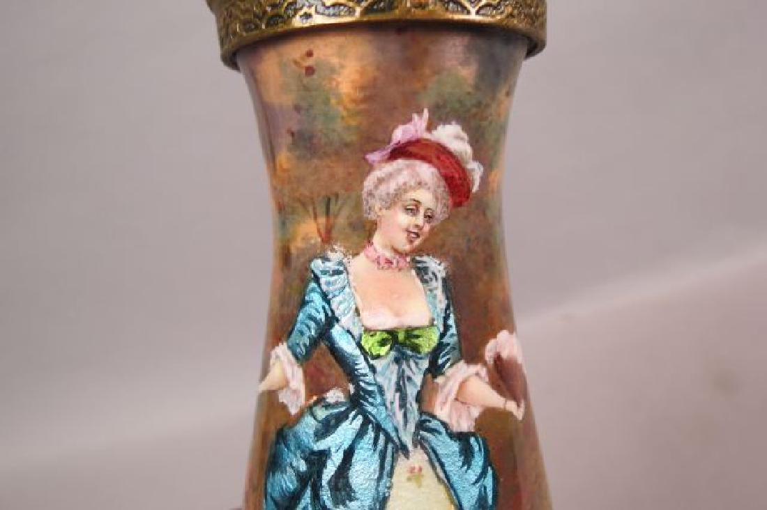French Enamel Vase, - 3