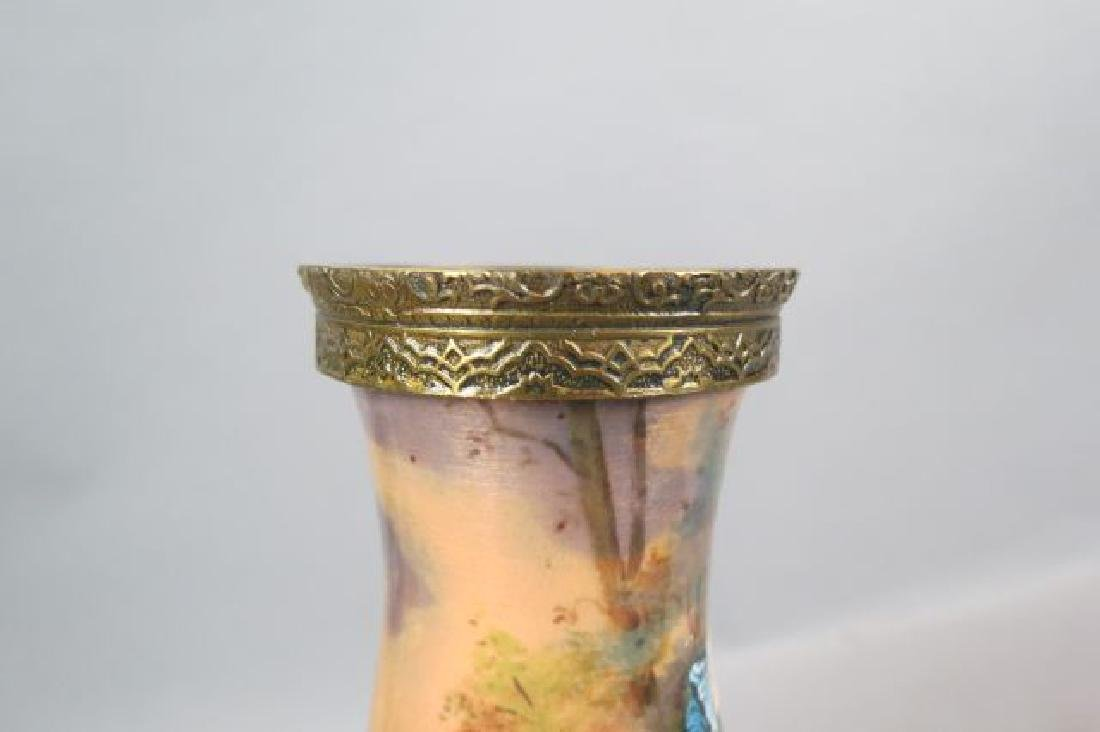 French Enamel Vase, - 5