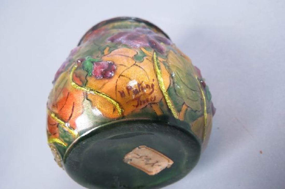 French Enamel Vase, - 4
