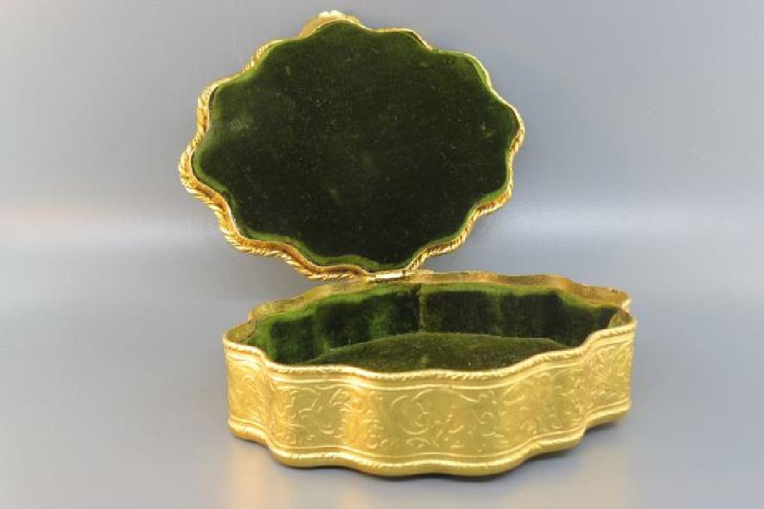 French Bronze Box w/ Miniature Portrait of Lady, - 4