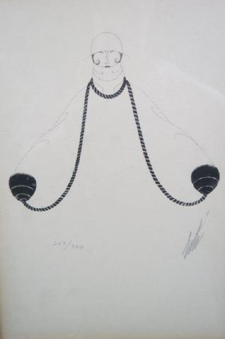Erte Lithograph of a Deco Lady, - 2