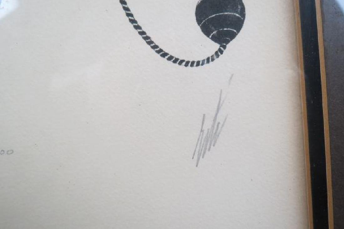 Erte Lithograph of a Deco Lady, - 4