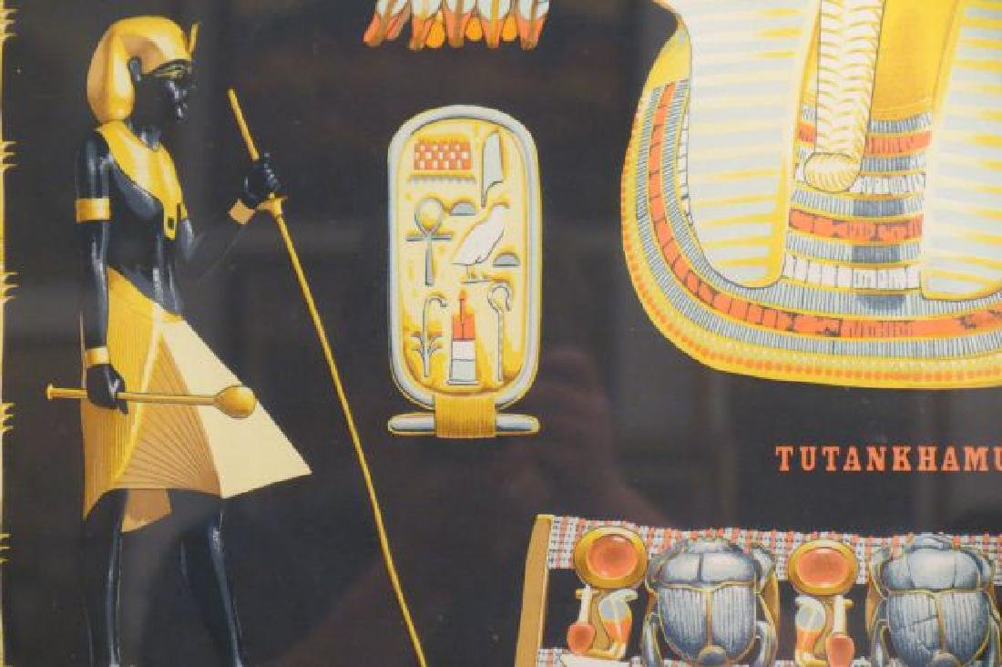 Hermes Scarf of Tutankhamun Egyptain Decor, - 3