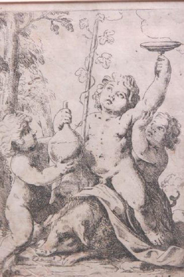Girolamo Scarselli 17th Century Etching, - 2