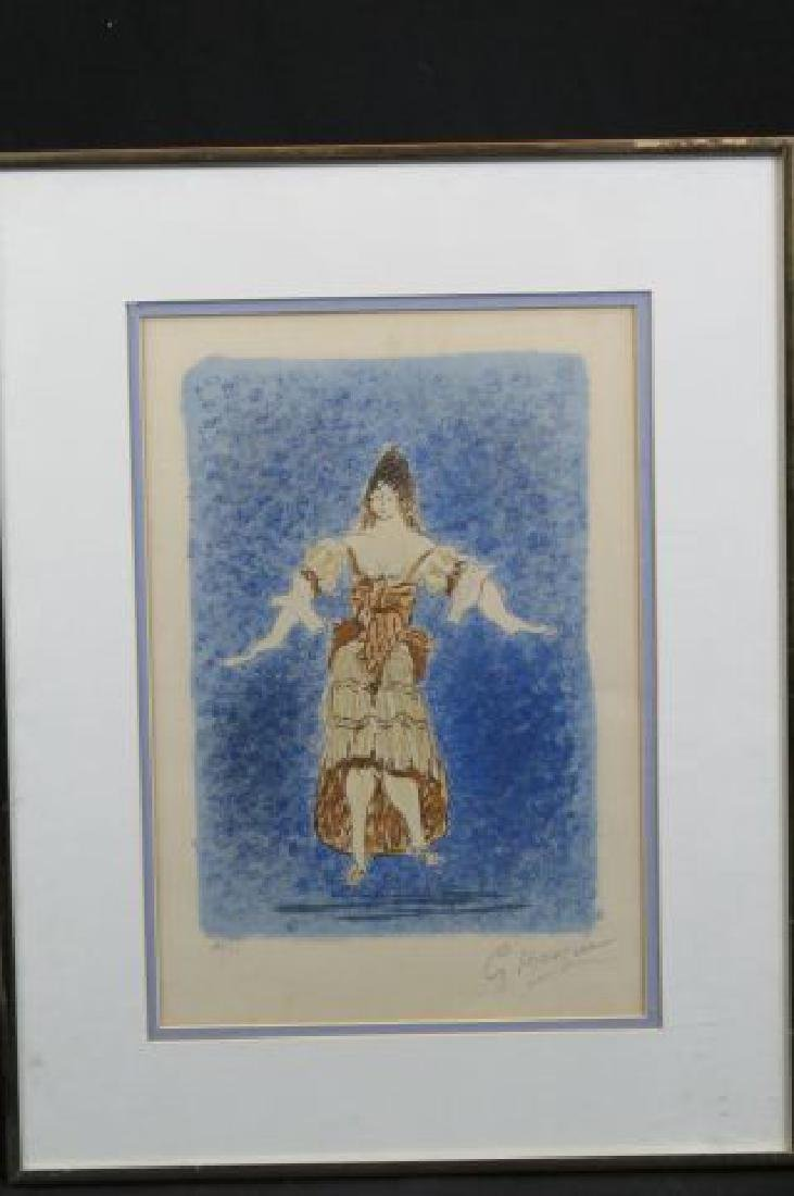Georges Braque Lithograph of Lady,