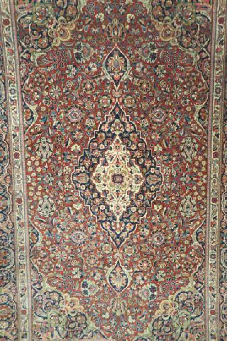 Pair of Kashan Persian Handmade Rugs, - 2