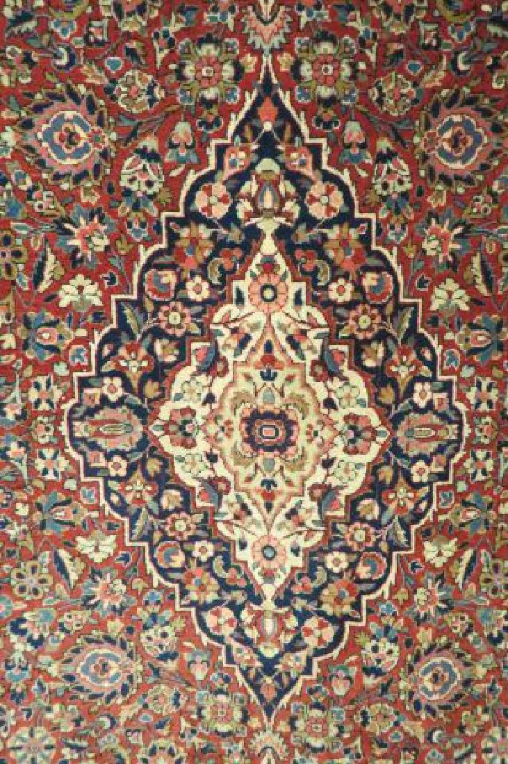 Pair of Kashan Persian Handmade Rugs, - 3