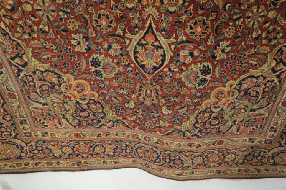 Pair of Kashan Persian Handmade Rugs, - 4