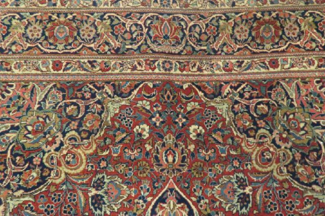 Pair of Kashan Persian Handmade Rugs, - 5