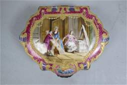 Fine Hand Painted Porcelain Box