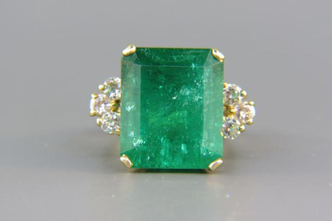 Large Emerald & Diamond Ring,