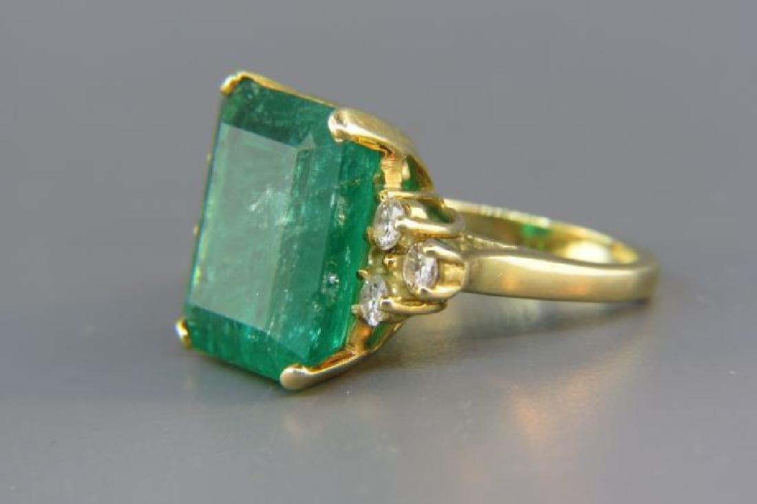 Large Emerald & Diamond Ring, - 2