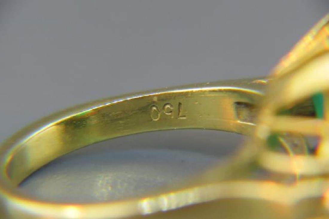 Large Emerald & Diamond Ring, - 6