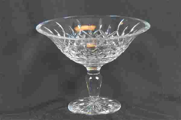 """Waterford """"Lismore"""" Cut Crystal Fruit Compote,"""
