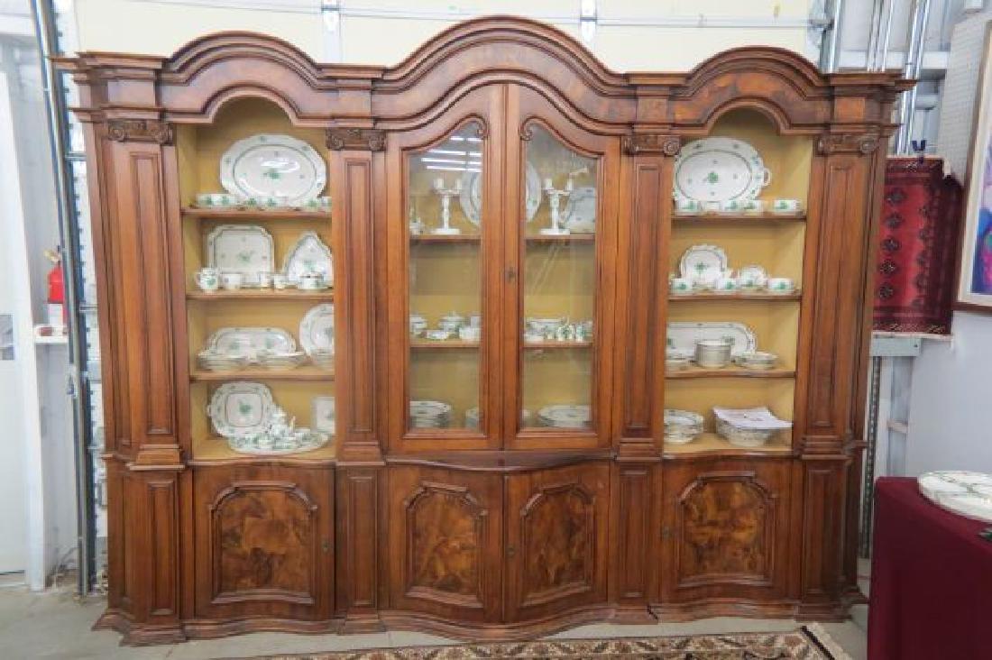 Tuscan Style Italian Breakfront Bookcase,