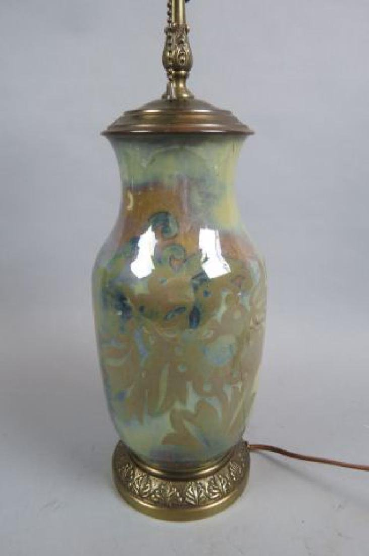 Art Pottery Lamp, - 3