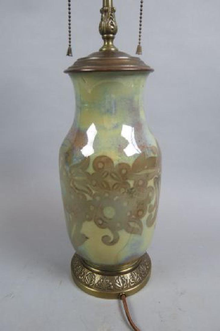 Art Pottery Lamp, - 4