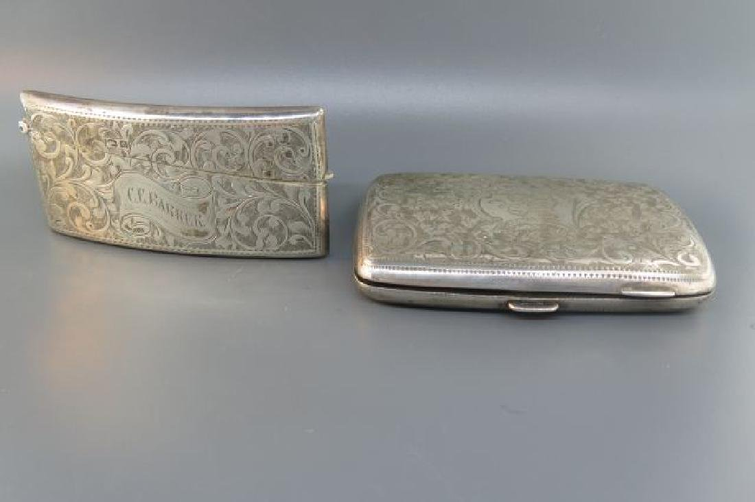 2 English Sterling Silver Cases,