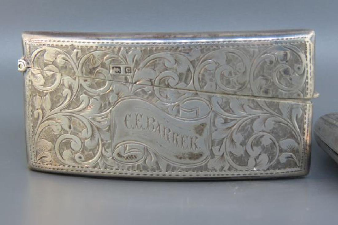 2 English Sterling Silver Cases, - 2