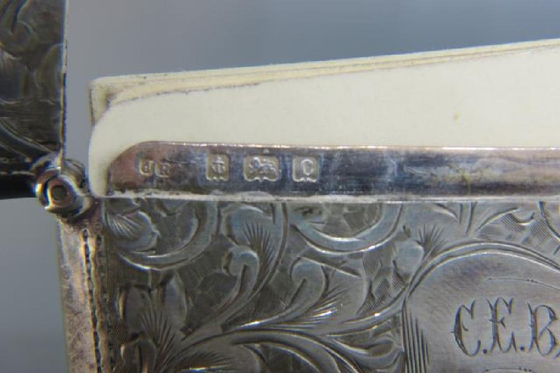 2 English Sterling Silver Cases, - 3