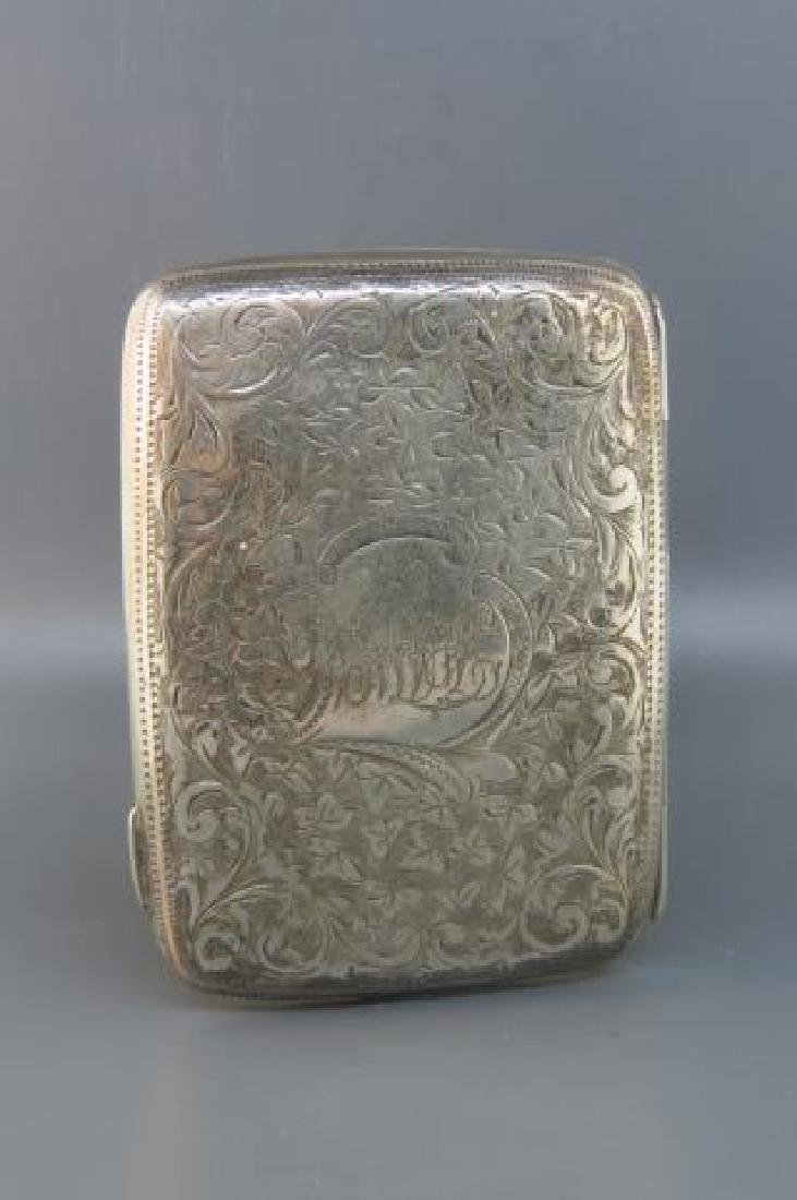 2 English Sterling Silver Cases, - 4