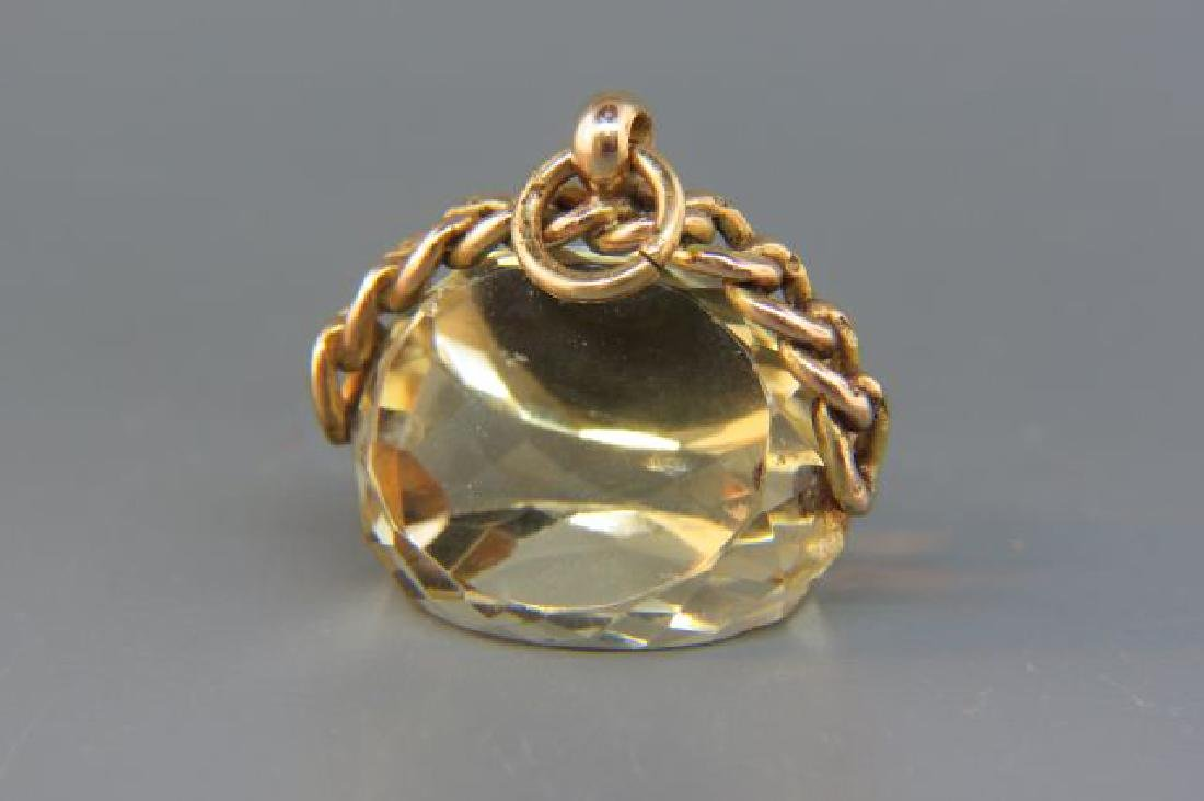 Victorian Gold & Citrine Fob,