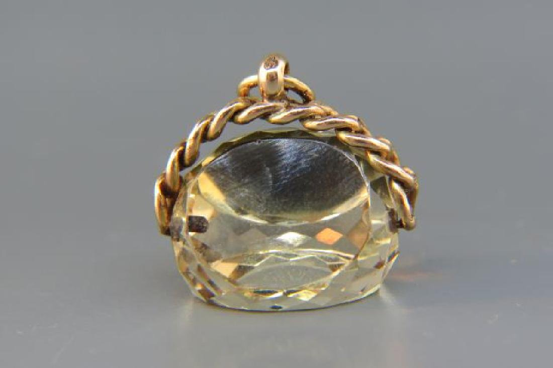 Victorian Gold & Citrine Fob, - 3