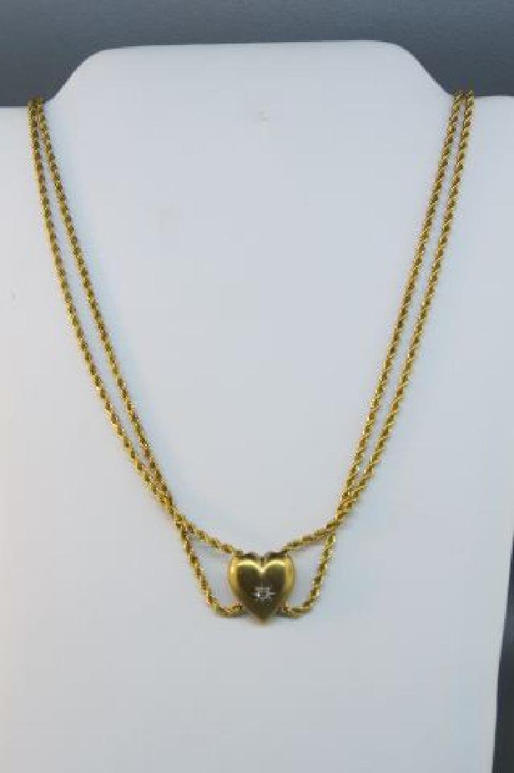 14K Gold Slide Necklace,