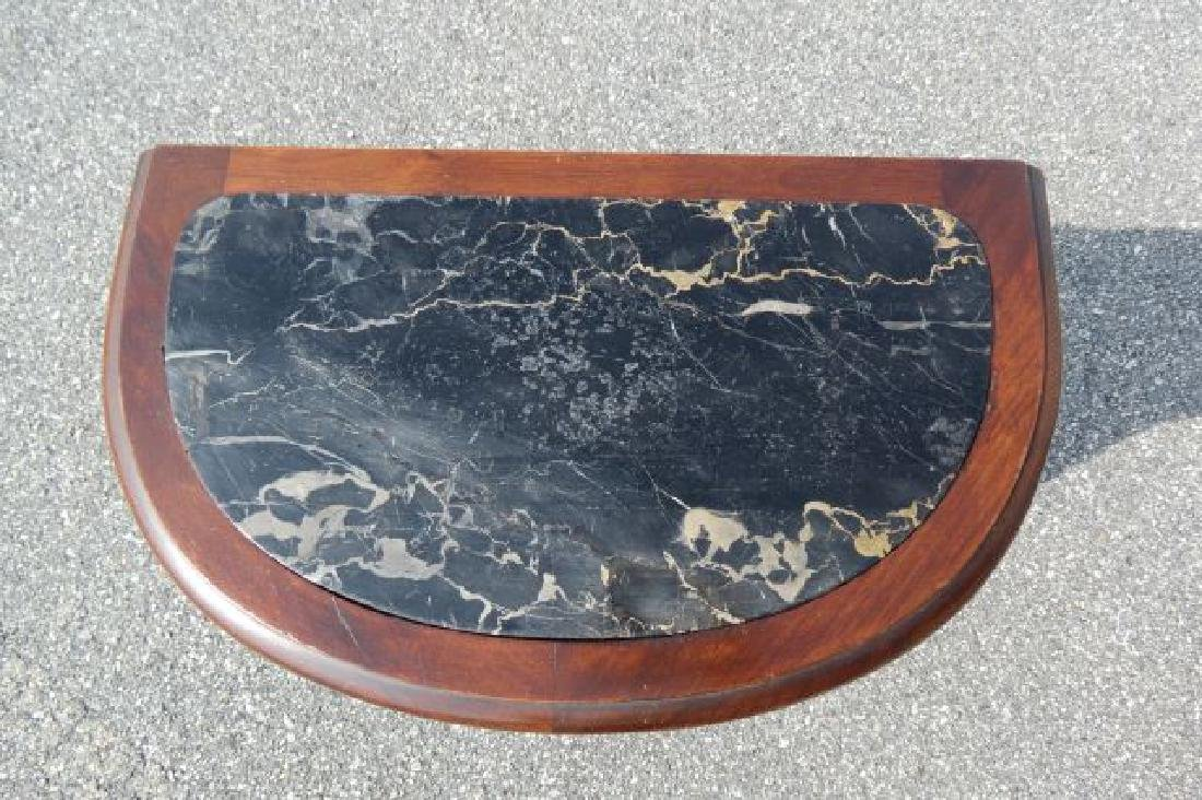 Carved Italian Marble Top Bedside Cabinet, - 3