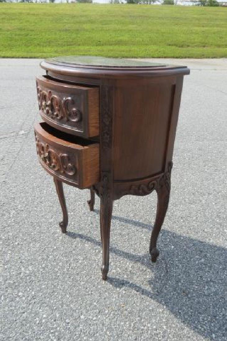 Carved Italian Marble Top Bedside Cabinet, - 4
