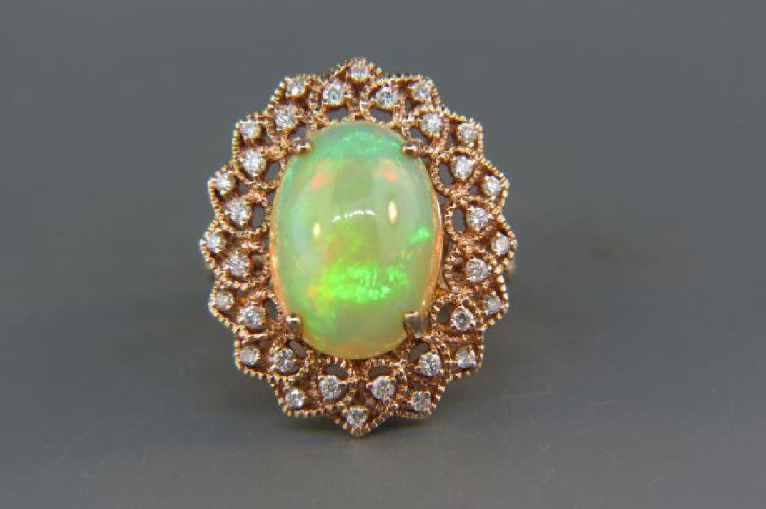 Opal & Diamond Ring,