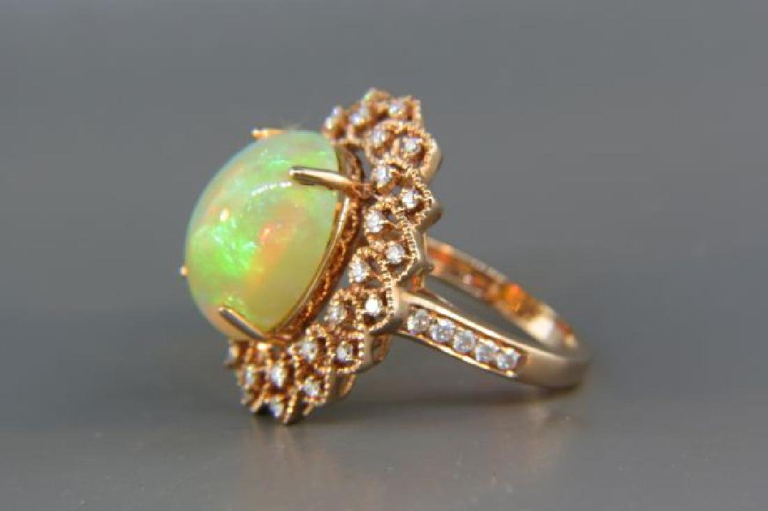 Opal & Diamond Ring, - 2