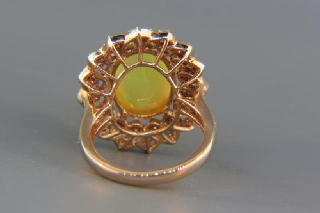 Opal & Diamond Ring, - 3