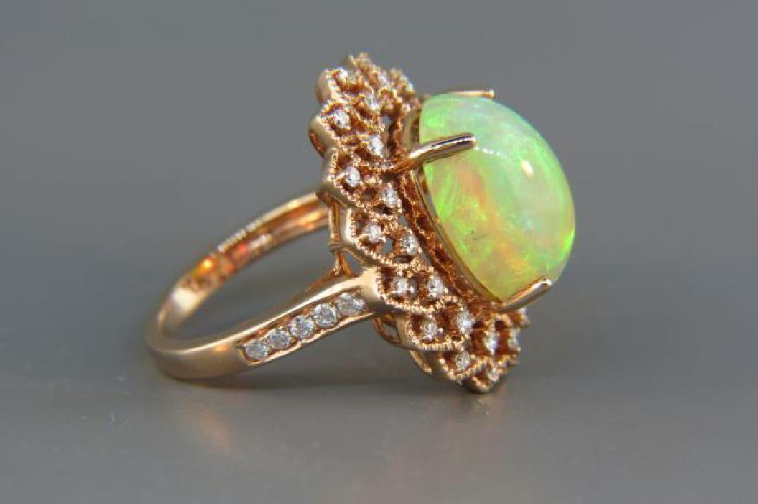 Opal & Diamond Ring, - 4