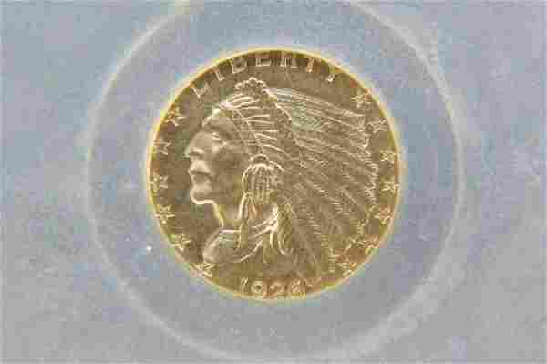 1926 U.S. $2.50 Indian Head Gold Coin,