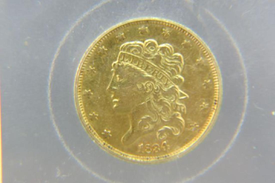 1834 U.S. $5.00 Classic Head Gold Coin,