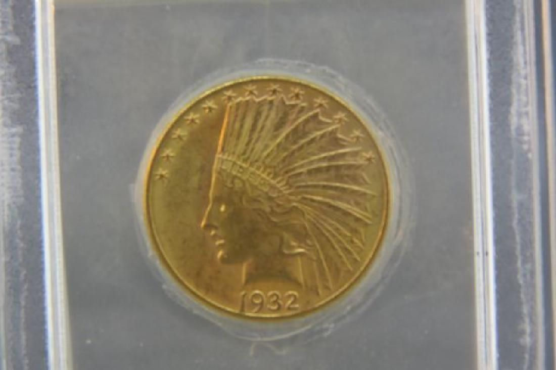 1932 U.S. $10.00 Indian Head Gold Coin,