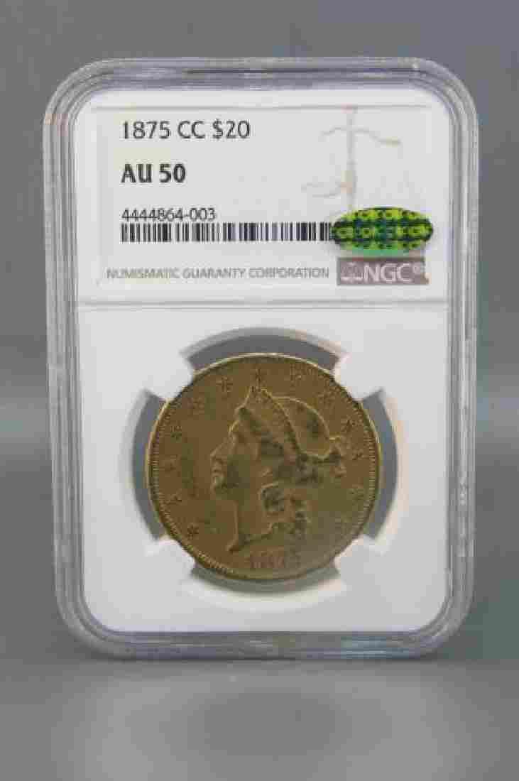 1875- CC U.S. $20.00 Liberty Head Gold Coin,