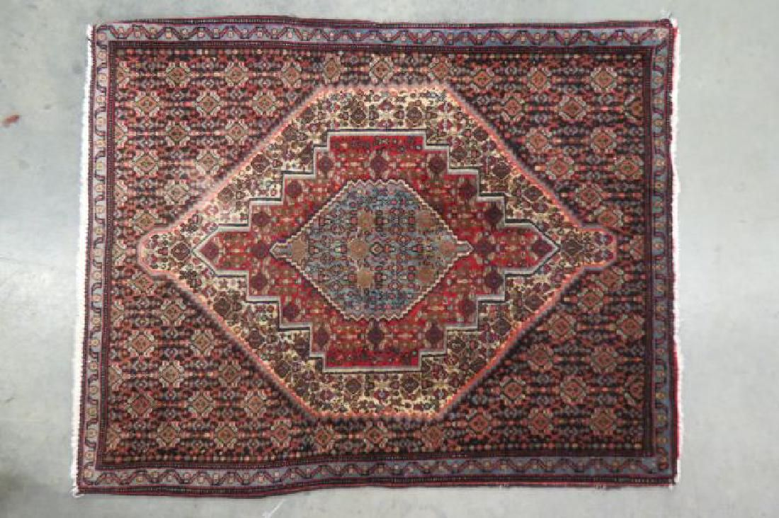 Silk Zanjan Persian Handmade Mat,