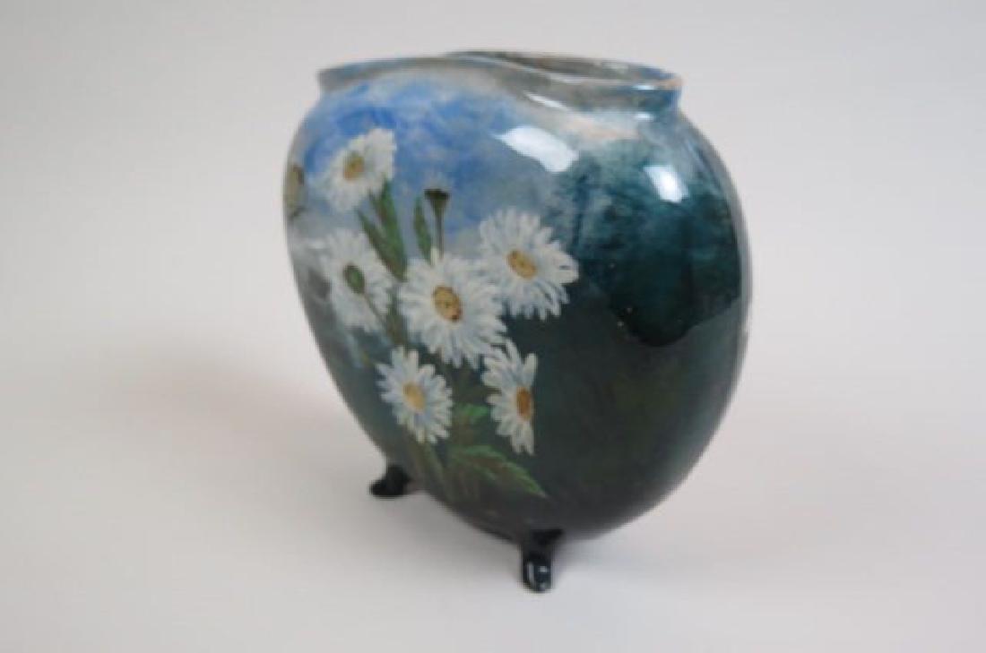 1882 Rookwood Art Pottery Handpainted Vase, - 5
