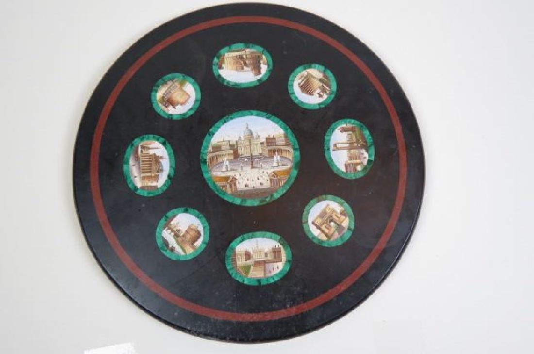 Italian Micro Mosaic & Malachite Table Top,