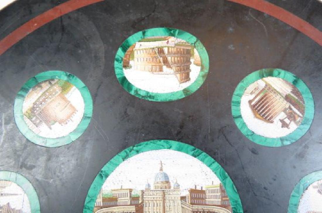 Italian Micro Mosaic & Malachite Table Top, - 2