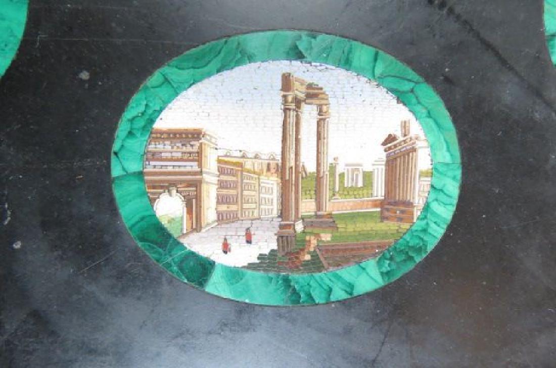 Italian Micro Mosaic & Malachite Table Top, - 5