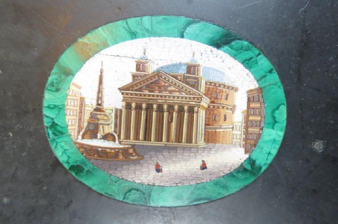 Italian Micro Mosaic & Malachite Table Top, - 6