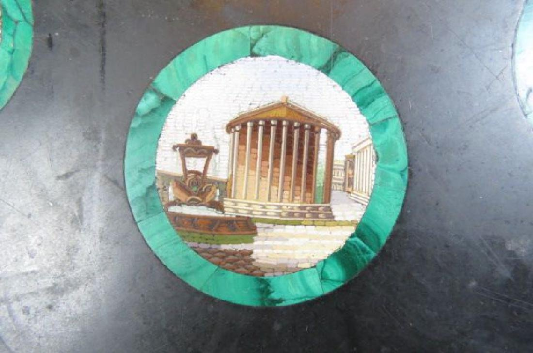 Italian Micro Mosaic & Malachite Table Top, - 7