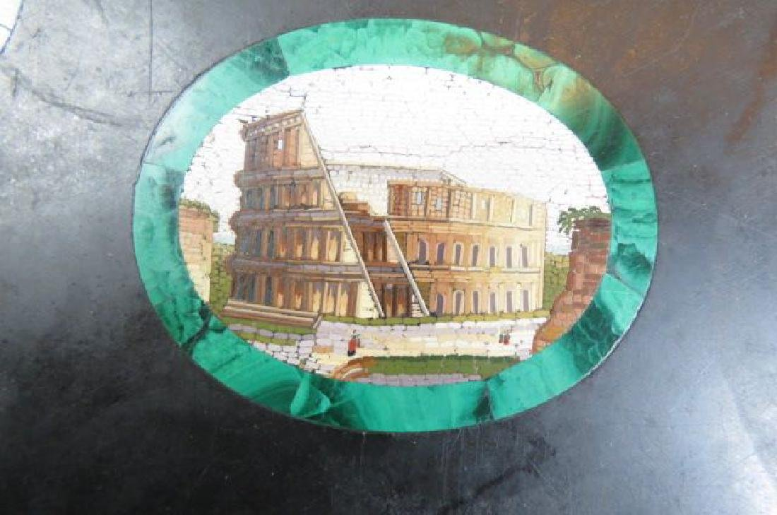 Italian Micro Mosaic & Malachite Table Top, - 8