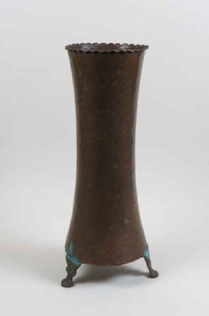 Hand Hammered Copper Vase,