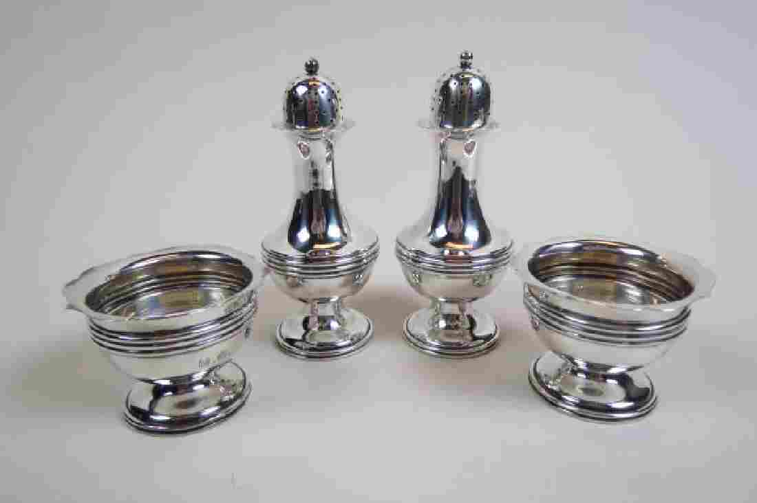 4 pc. Sterling Silver Salt & Pepper Set,