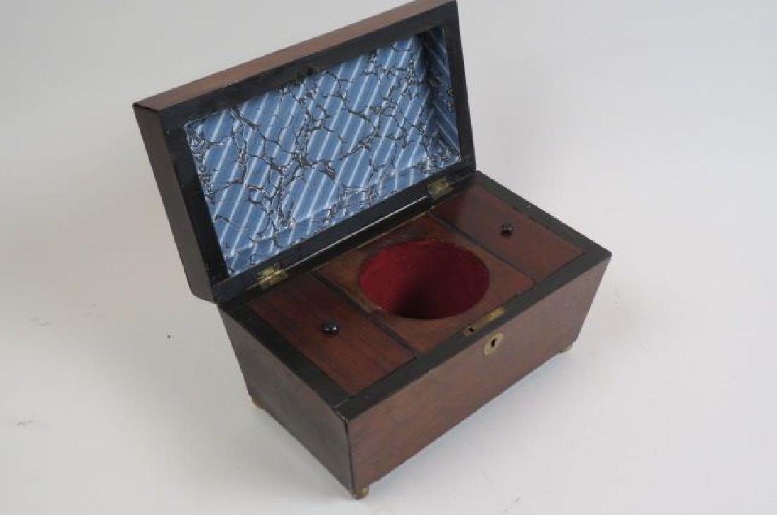 Regency Rosewood  & Mahogany Tea Caddy Box, - 2